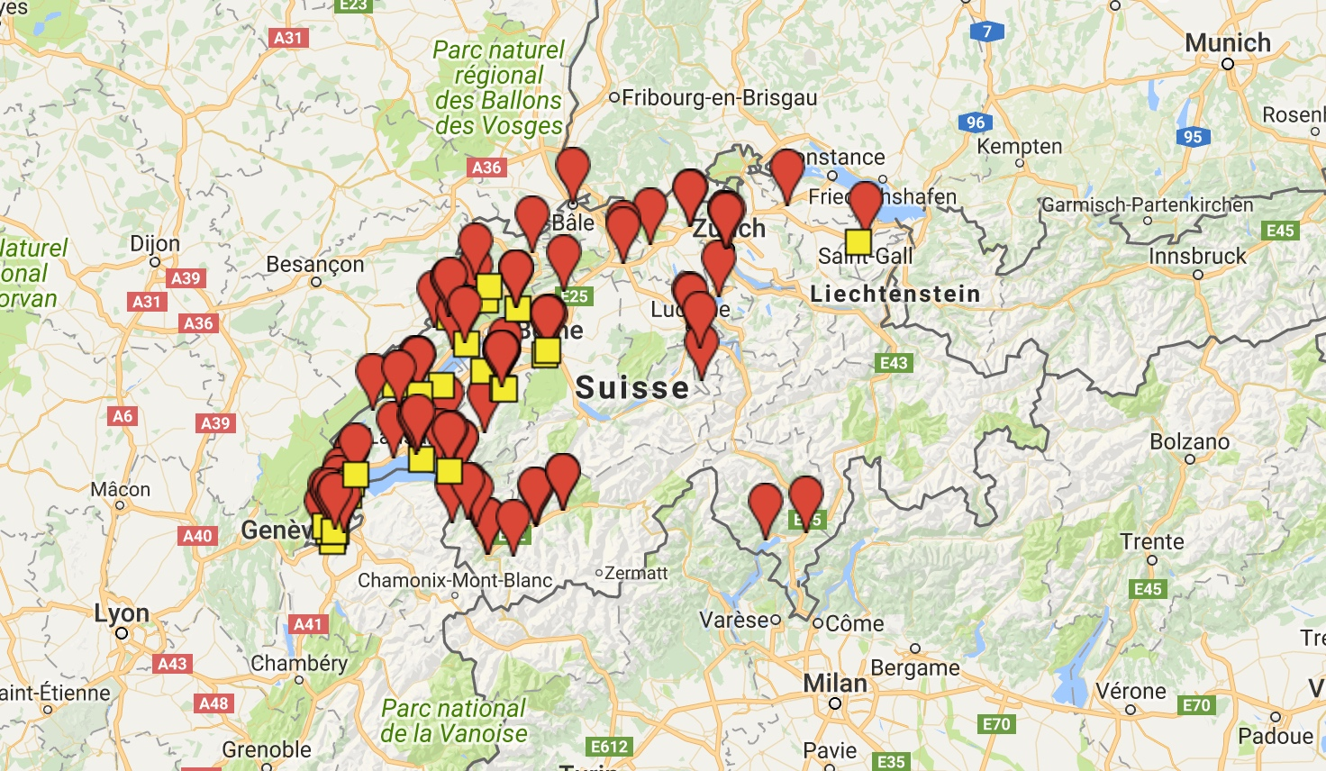 Salles de concerts en Suisse